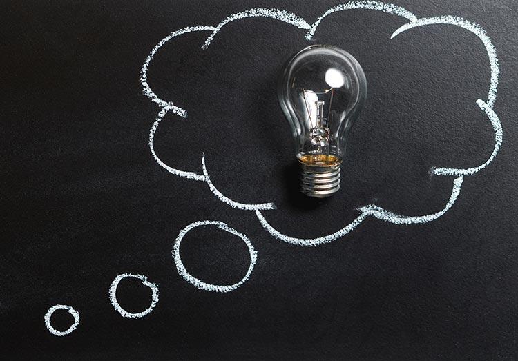 Lightbulb thinking moment