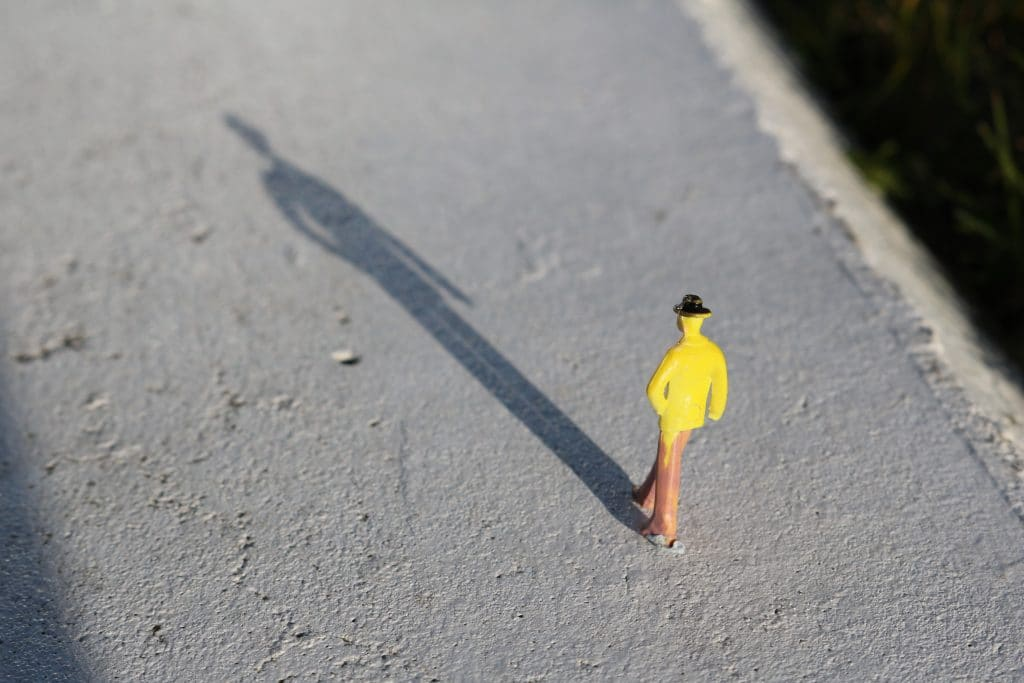 Persons shadow
