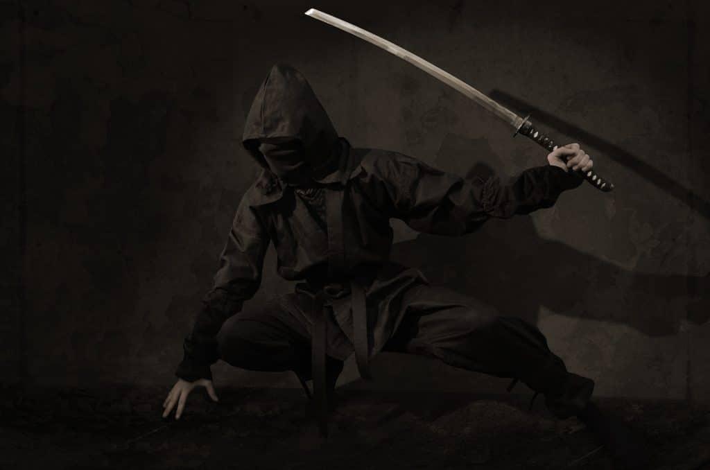 Ninja with Ninjas Sword