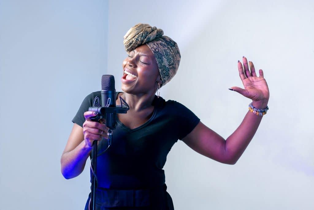 Photo of woman singing